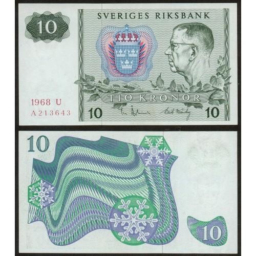 SWEDEN 10 Kronor 1968