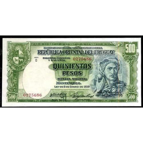 URUGUAY 500 Pesos 1939