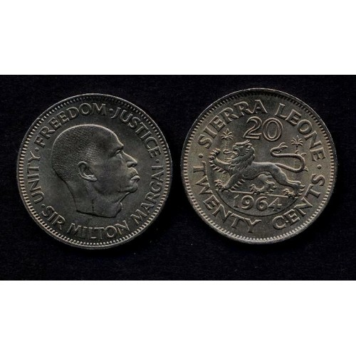 SIERRA LEONE 20 Cent 1964