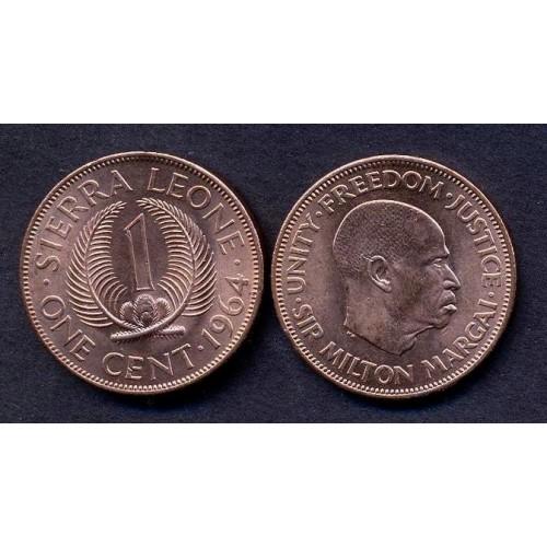 SIERRA LEONE 1 Cent 1964...