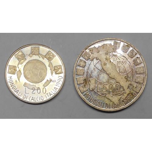 DITTICO 200 + 500 Lire 1989...