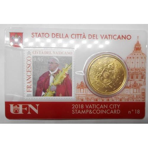 VATICANO 50 Euro Cent 2018...