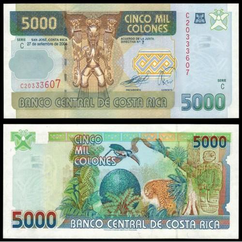 COSTA RICA 5000 Colones 2004