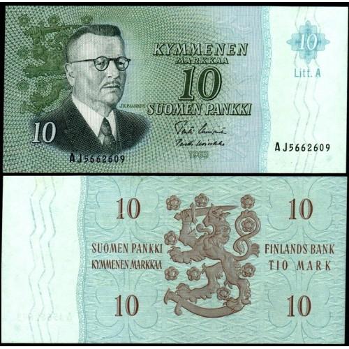 FINLAND 10 Markkaa 1963