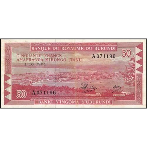 BURUNDI 50 Francs 01.10.1964
