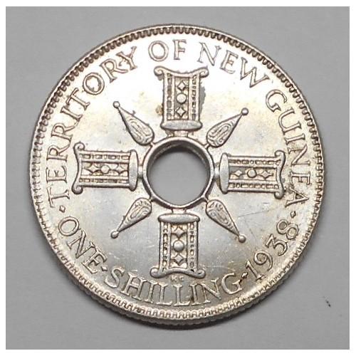 NEW GUINEA 1 Shillings 1938 AG