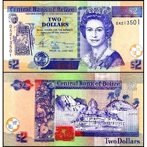 BELIZE 2 Dollars 2003