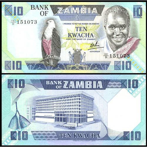 ZAMBIA 10 Kwacha 1980