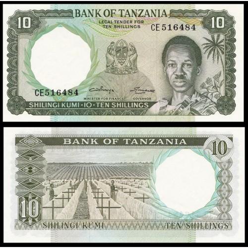 TANZANIA 10 Shilingi 1966