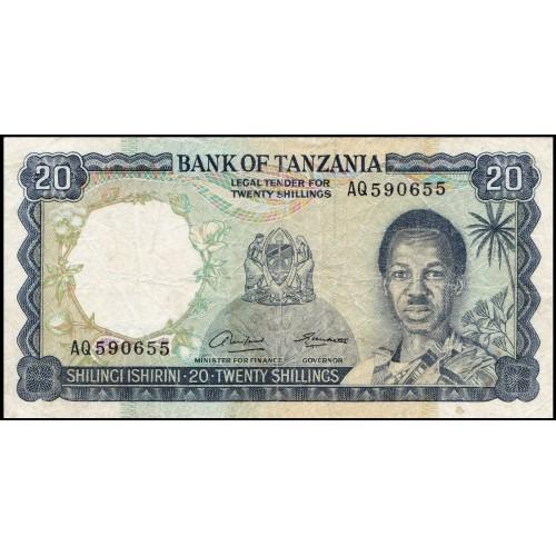 TANZANIA 20 Shilingi 1966
