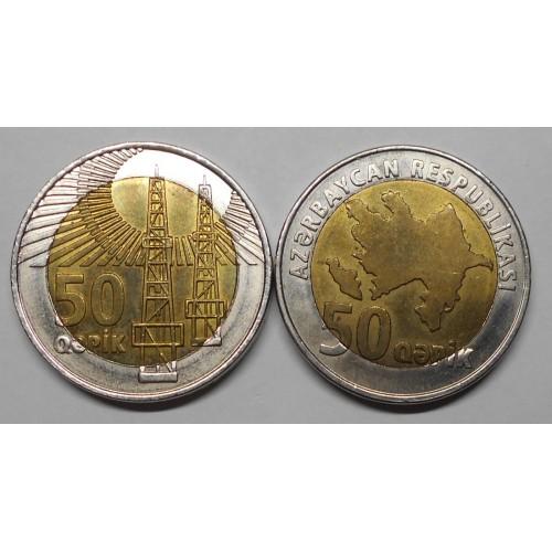 AZERBAIJAN 50 Qapik 2006...