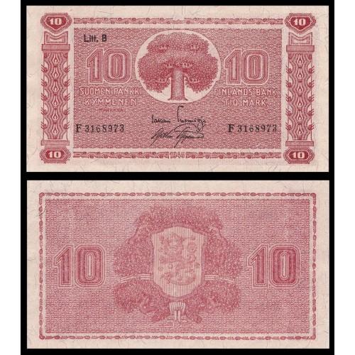 FINLAND 10 Markkaa 1945...