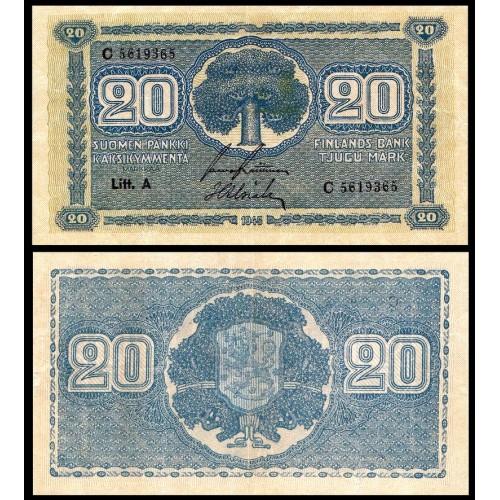 FINLAND 20 Markkaa 1945...