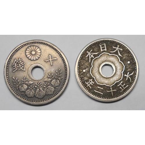 JAPAN 10 Sen 1923