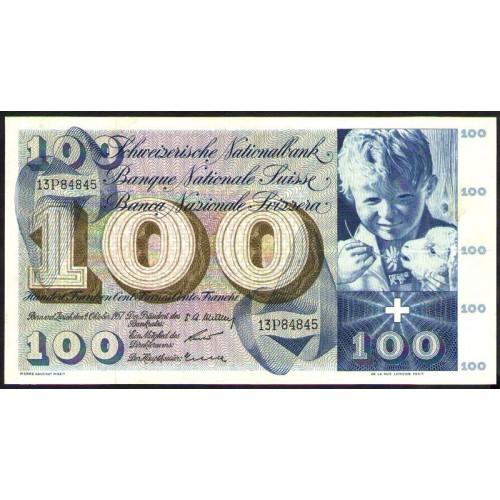 SWITZERLAND 100 Franken 1957