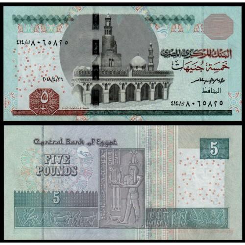 EGYPT 5 Pounds 2018