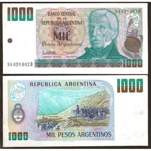 ARGENTINA 1000 Pesos...