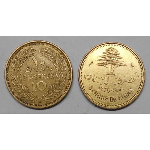 LEBANON 10 Piastres 1970