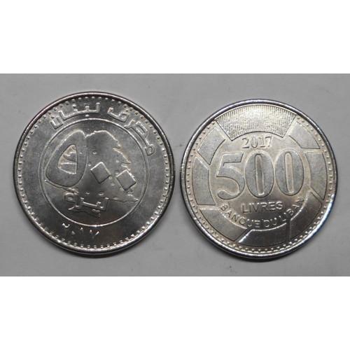 LEBANON 500 Livres 2017