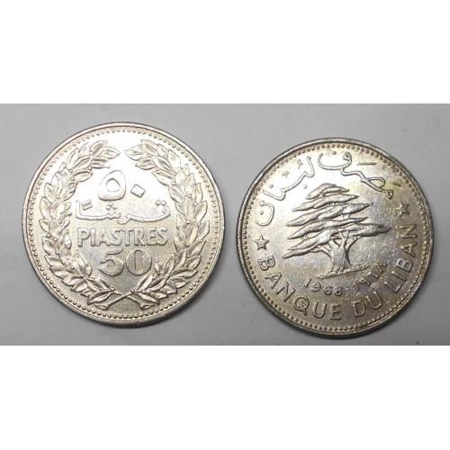 LEBANON 50 Piastres 1968