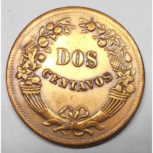 PERU 2 Centavos 1946