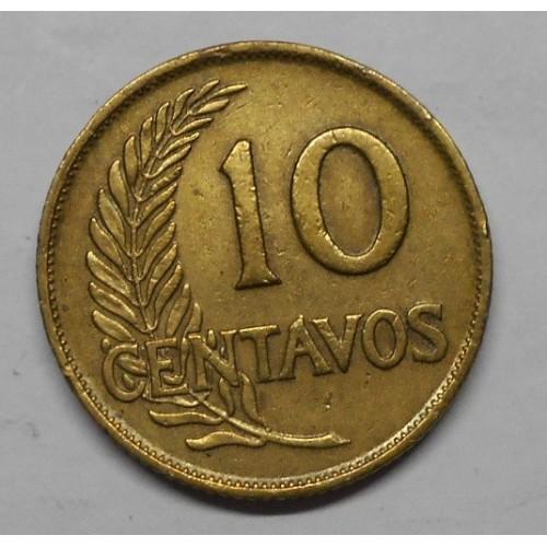 PERU 10 Centavos 1948