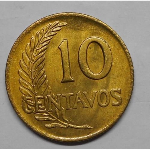 PERU 10 Centavos 1961