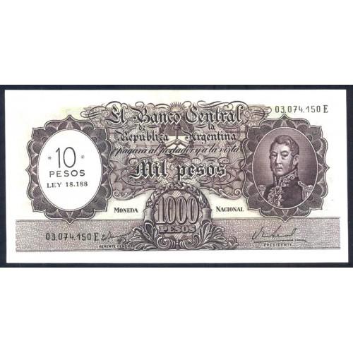 ARGENTINA 10 Pesos 1969