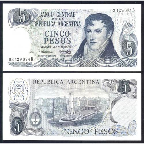ARGENTINA 5 Pesos 1974