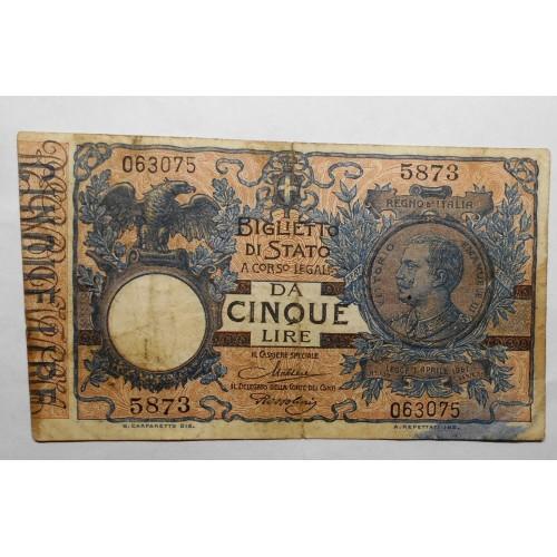 5 Lire 1923