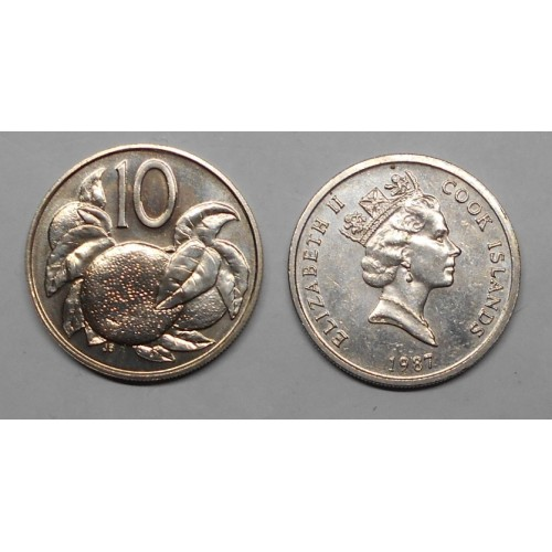 COOK ISLANDS 10 Cents 1987