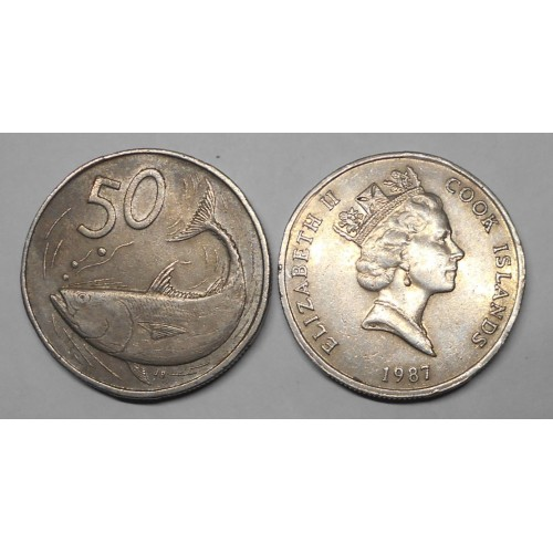 COOK ISLANDS 50 Cents 1987