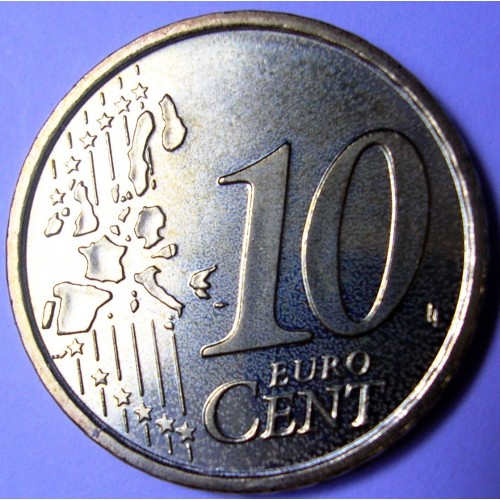 VATICANO 10 Euro Cent 2021