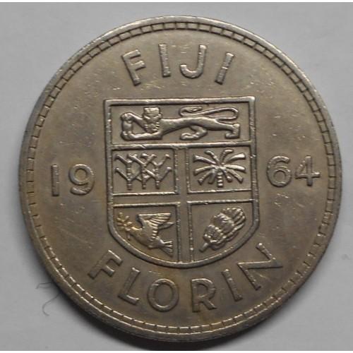 FIJI 1 Florin 1964