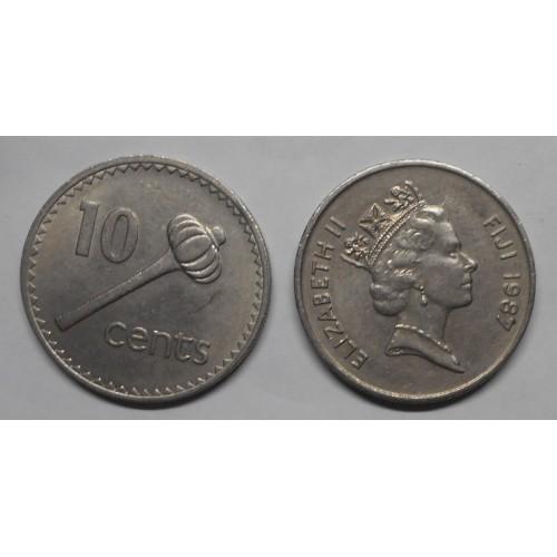 FIJI 10 Cents 1987