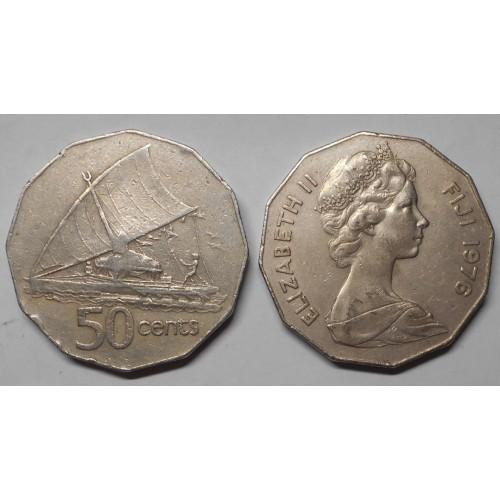 FIJI 50 Cents 1976