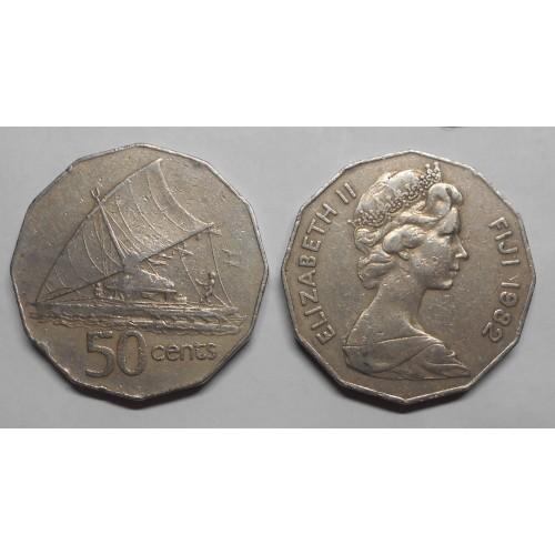 FIJI 50 Cents 1982