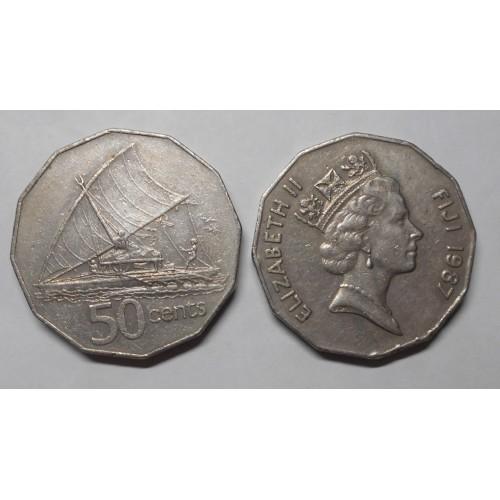FIJI 50 Cents 1987