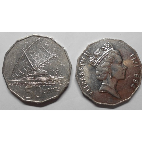 FIJI 50 Cents 1994