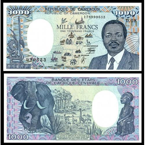 CAMEROUN 1000 Francs 1990