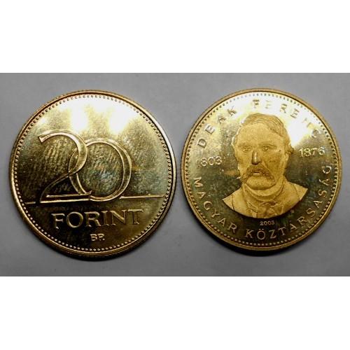HUNGARY 20 Forint 2003 Deak...