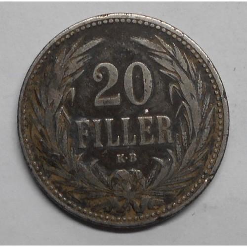 HUNGARY 20 Filler 1892