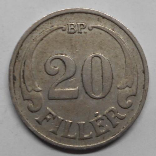 HUNGARY 20 Filler 1927 rare