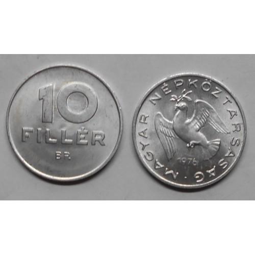 HUNGARY 10 Filler 1976