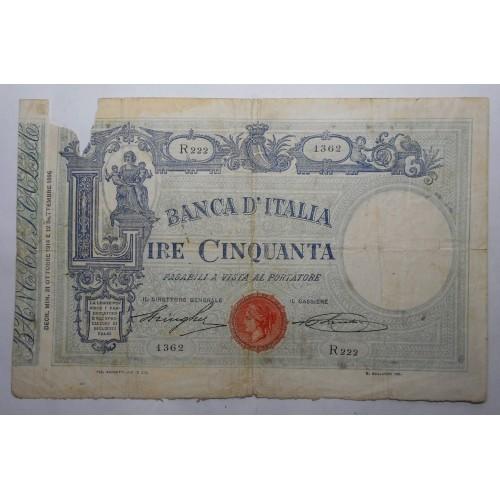 50 Lire Matrice 31.10.1914