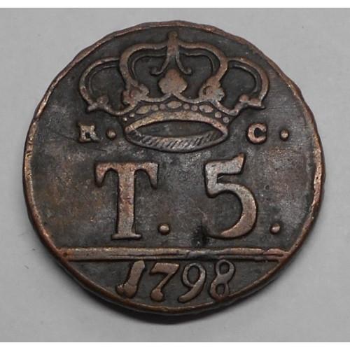 FERDINANDO IV 5 Tornesi 1798