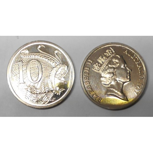 AUSTRALIA 10 Cents 1987