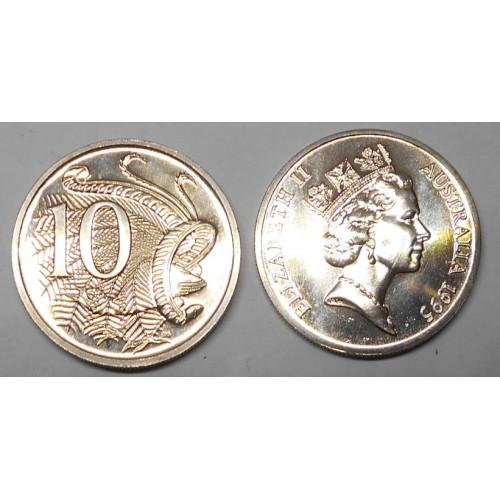 AUSTRALIA 10 Cents 1995 rare