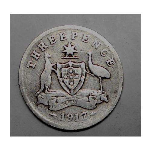 AUSTRALIA 3 Pence 1917 AG