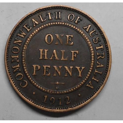 AUSTRALIA 1/2 Penny 1912...